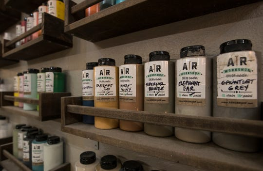 A large assortment of stains and paints are available for use by clients at AR Workshop in Cape Coral. The business offers its clients the opportunity to participate in hands-on DIY classes guiding them in the creation of a variety of custom home decor options from raw materials.