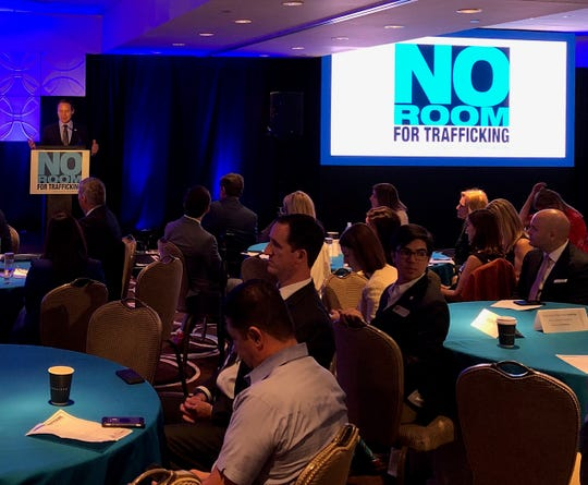 More than 200 hotel employees, lawmakers and public officials joined for a summit Jan. 9, 2020, at the Fontainebleau Miami Beach organized by the American Hotel & Lodging Association and partners on how to detect human trafficking victims in advance of the Super Bowl in Miami in February.