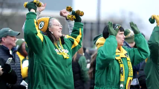 A pep rally was held Jan 10, 2020, ahead of the Green Bay Packers playoff game against the Seattle Seahawks.