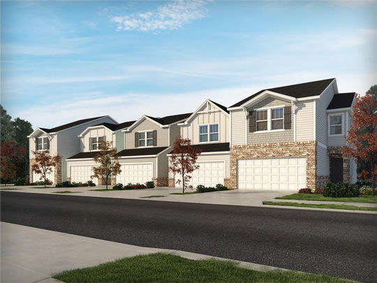 A rendering of townhouses from Meritage Homes, which are proposed for construction on a 95-acre property adjacent to Fountain Inn, which the city is considering annexing.