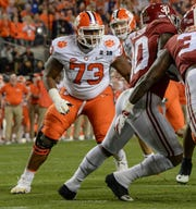 Clemson and Tremayne Anchrum (73) are the only team to play in each of the last five College Football Playoffs.