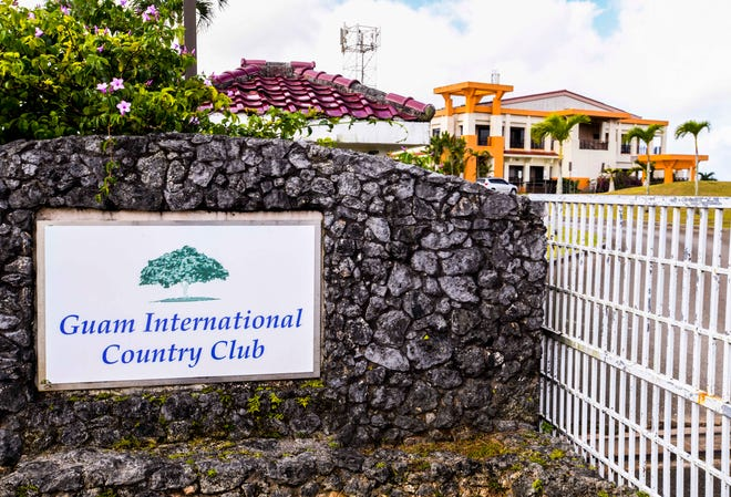 The gated entrance to the Guam International Country Club golf course in Dededo on Friday, Jan. 10, 2020.