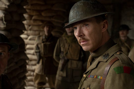 "Benedict Cumberbatch as Colonel MacKenzie in the Golden Globe winning film ""1917."""