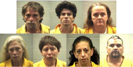 Clockwise from top left, Gerald Powell, Marshall Williams, Tracey Sonnier, Harry Kostermayer, Theresa Hickman, Ginger Dowler and Tammy Roberts.