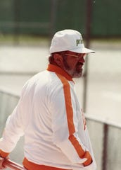 Mike DePalmer Sr., former University of Tennessee Tennis Coach, as seen in 1985.