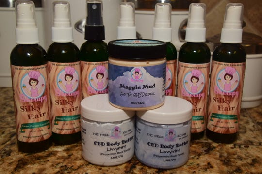 "Sheri Deburcheo makes many products designed to make her customers feel and look better. Some of her products contain CBD oil. ""The CBD really helps with pain, so I use it in several things. The Maggie Mud will help you sleep and the Silky Hair does just what its name says,"" she said."
