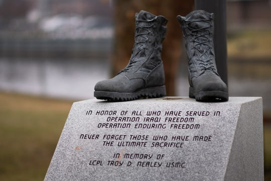 A monument honoring fallen United States Marine Corps LCPL Troy Nealey was discovered vandalized Thursday evening, Jan. 9, 2020.  Nealey died at 24 during Operation Iraqi Freedom in Fallujah, Iraq, in October 2006.