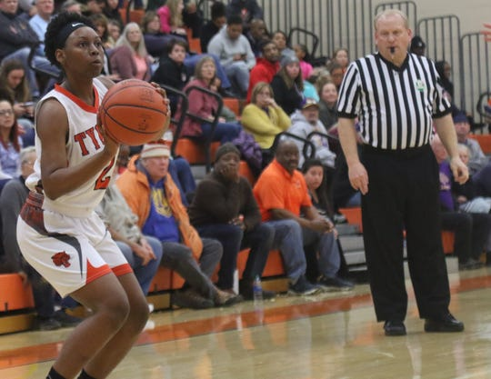 Mansfield Senior's Akira Johnson has the  Lady Tygers at No. 8 in the Richland County Girls Basketball Power Poll.