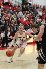 Shelby's Grant Gossom helped the Whippets to a win over Clear Fork to remain undefeated in MOAC play.