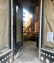 The open door at 1327 E. Brady St. shows the construction underway to prepare for the new restaurant, called St. Bibiana, according to city records. The back of the 1893 building has been removed, and the addition will include seating on the upper floor.