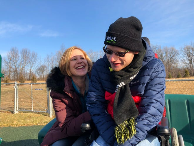 Brookfield mother Sarah Knowles has had to adjust to a new way of life to help with her disabled son Matthew as schools shut down because of the coronavirus pandemic.