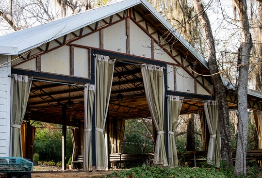 An event building at the Elms, an antebellum plantation house in Coosada, Ala., that is used as a wedding and event venue, on Thursday January 9, 2020.