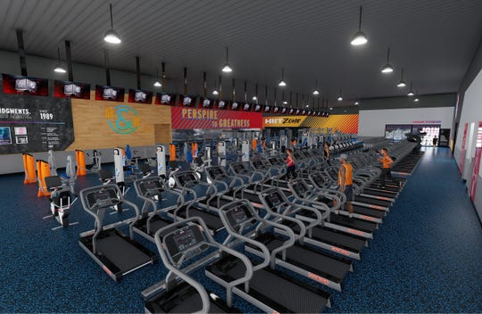 This image from the Crunch Fitness site shows plans the chain's first Montgomery location.