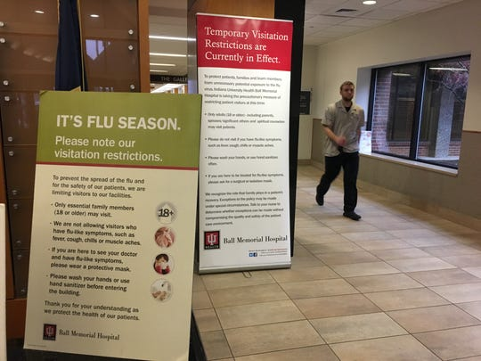 Visitor restrictions are in place at IU Health Ball Memorial Hospital to prevent the spread of flu.