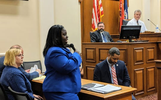 Juvenile Court Judge Sheila Calloway talks to Metro Council's public safety committee about Nov. 30 juvenile detention center escape.