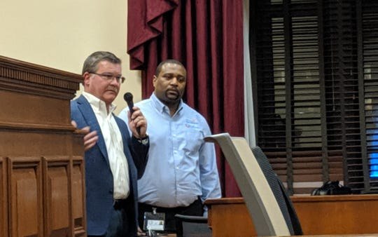 Youth Opportunity President Jim Hill answers questions from Metro Council's public safety committee about Nov. 30 juvenile detention center escape.