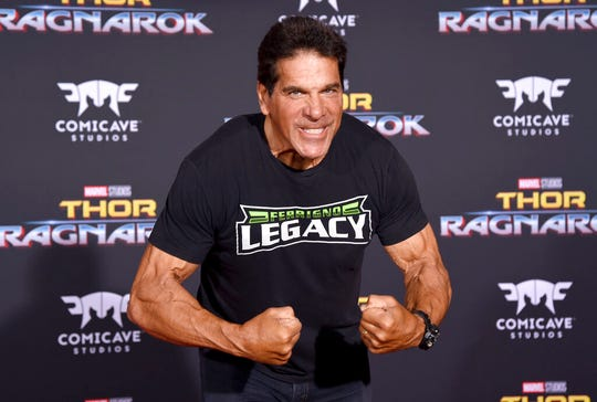 "In this Tuesday, Oct. 10, 2017, file photo, Lou Ferrigno arrives at the world premiere of ""Thor: Ragnarok"" at the El Capitan Theatre in Los Angeles. Ferrigno, the actor in the CBS television series ""The Incredible Hulk,"" is slated to become a sheriff's deputy in New Mexico."