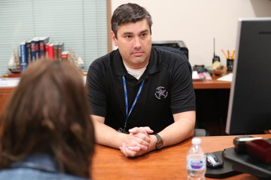 Sean Barham, chief of staff for the Las Cruces Public Schools, talks about a proposal to extend the school year while in his office in Las Cruces on Friday, Jan. 10, 2020.