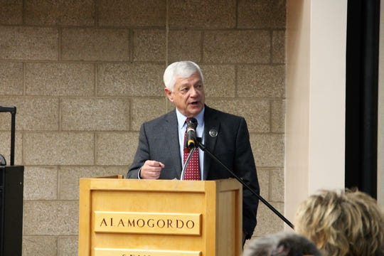 New Mexico State Senator Ron Griggs speaks during the 41st Annual Legislative Prayer Breakfast which was held Jan. 10 at the Alamogordo Senior Center.