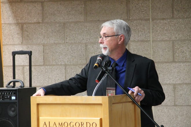 Michael Shinabery served as master of ceremonies at the 41st Annual Legislative Prayer Breakfast which was held Jan. 10 at the Alamogordo Senior Center.