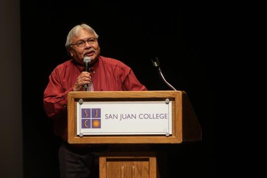 Four Corners Economic Development CEO Arvin Trujillo speaks during the Northwest Economic Outlook Forum, Wednesday, Jan. 8, 2020, at San Juan College in Farmington.