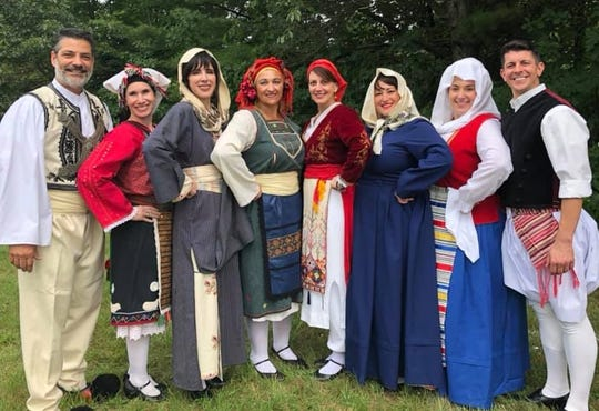 Dancers from the KYKLOS Hellenic Society.