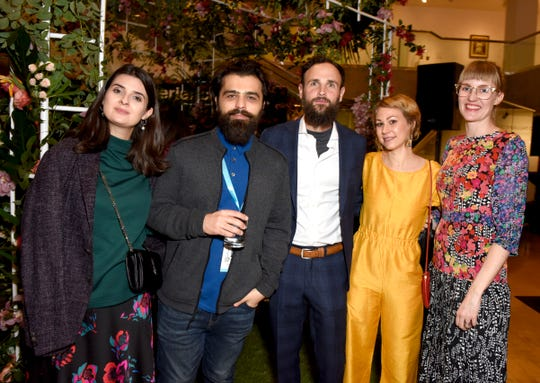"Larissa Hovannisian, Garin Hovannisian, Shane Boris, Sara Dosa and Shannon Murphy attend the afterparty for the opening night screening of ""An Almost Ordinary Summer"" at the 31st Annual Palm Springs International Film Festival on Jan. 3, 2020."