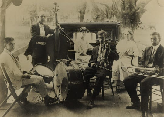 The Fairchild Orchestra is pictured Aug. 27, 1915, in Kupfrian's Park in Pensacola.