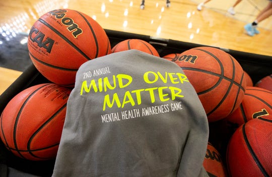 Estrella Foothills High School Mental Health Awareness Game T-shirt on Jan. 6, 2020 in Goodyear, Ariz.