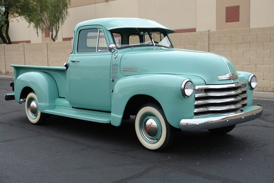 This 1953 Chevroletpickup was completely restored, with a new interior, window, tires, glass, chrome, brakes and suspension.