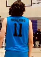 Diego Navarro had a record-setting night for Chandler Arizona College Prep Thursday, Jan. 9, 2020, while wearing a jersey number to honor his late father.