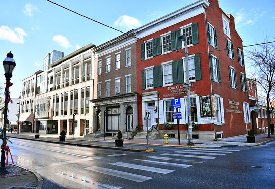 The center building at 53-57 East Market St. in York City, Friday, Jan. 10, 2020. Dawn J. Sagert photo