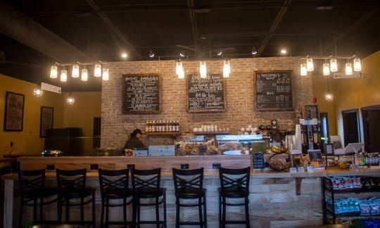 Inside Hive Coffee House and Cafe in Dover. Hive is part of a new look strip mall alongside Dottie's Family Market, formerly known as Hake's Grocery Store.