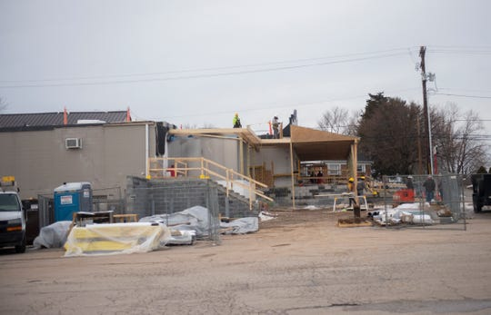 Construction crews work on renovations at Dottie's Family Market at 898 E. Canal Road. Dottie's is located in the former site of Hake's Grocery Store in Dover.
