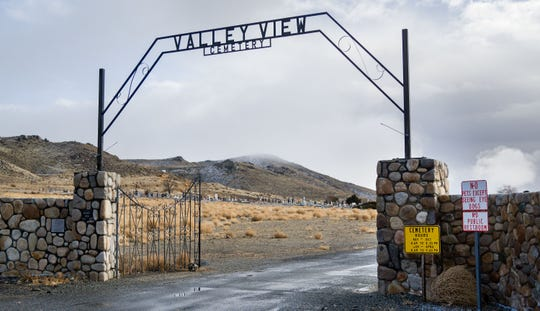 The entrance to Valley View Cemetery in Yerington.