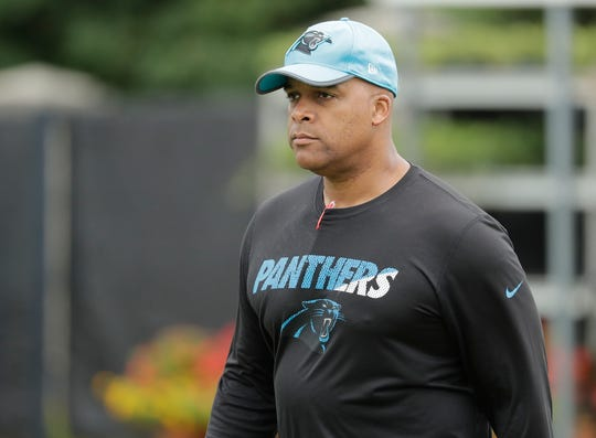 Carolina Panthers' former defensive coordinator Eric Washington was hired Friday as defensive line coach of the Buffalo Bills. He worked six seasons in Carolina with Bills head coach Sean McDermott.