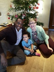 Jonathan Nwagbaraocha, his wife Laura and their daughter Grace.