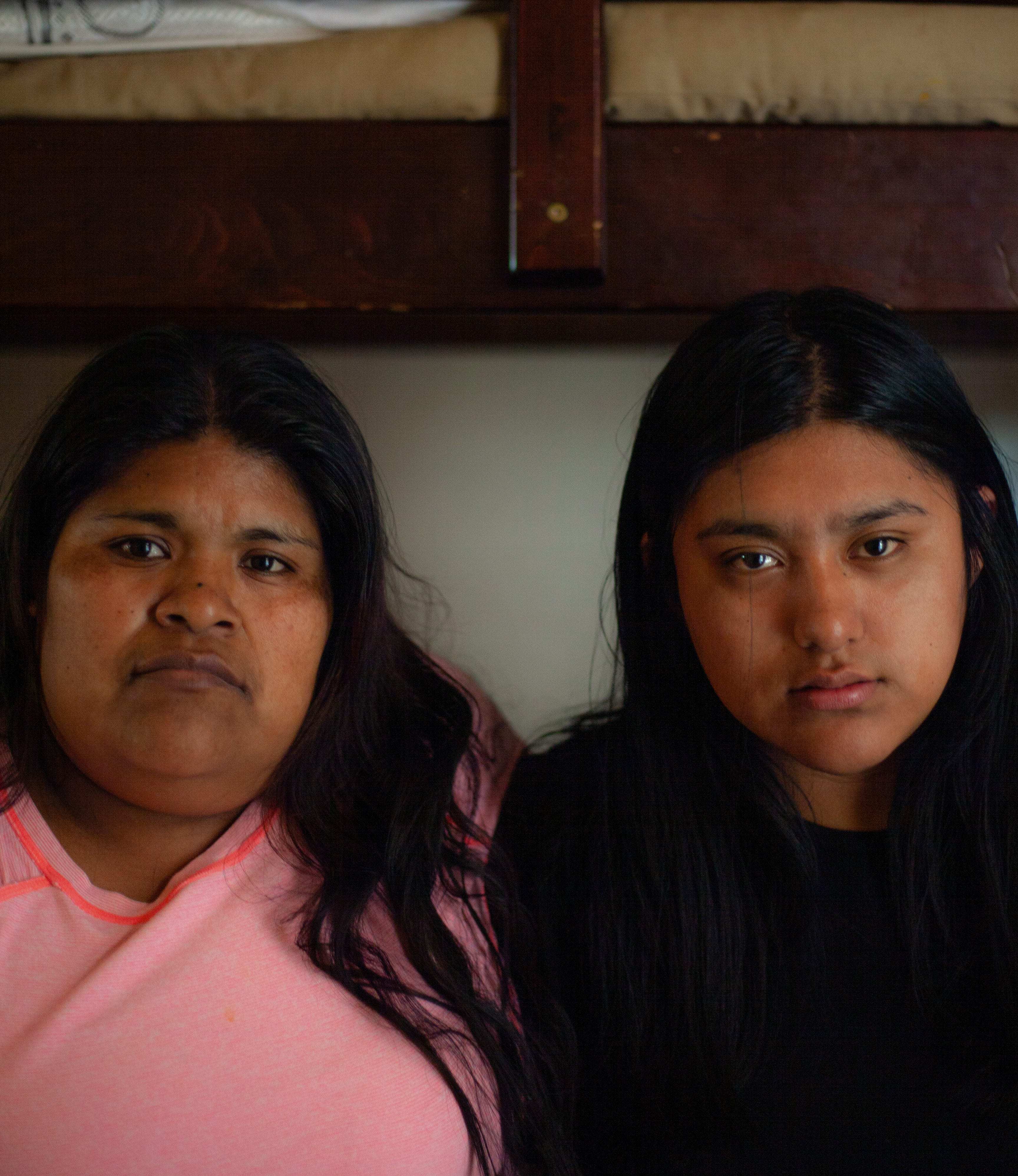Resi Salvador, right, and her step-mother, Constanza Salvador, share a small apartment on the North Side of Salinas with seven others.