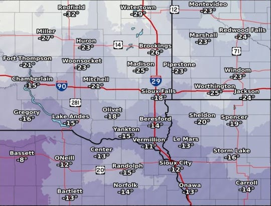 Cold wind chills through Saturday