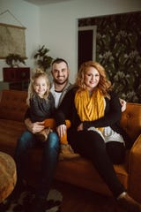 Austin, Chelsea and Brinley Plummer have created a home in a midcentury ranch house in southeast Springfield.