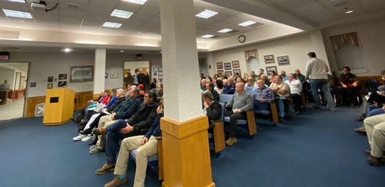 Staunton residents filled city council chambers again to talk about guns, though fewer people attended this meeting than the last.