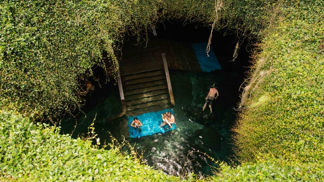 Devil's Den is one of the many underwater caves you can find floating down Ginnie Springs.