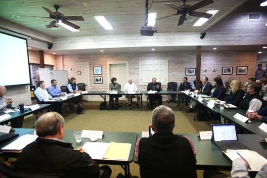 The members of theÊWildland Fire Leadership Council were joined by U.S. Secretary of Agriculture Sonny Perdue for a meeting at Tall Timbers in Tallahassee on Friday, Jan. 10, 2020.
