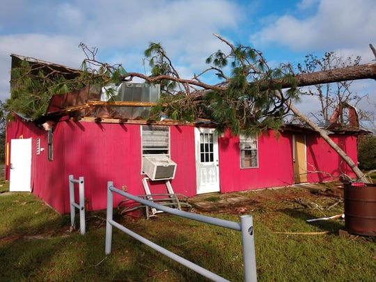 The Mossy Pond Volunteer Fire Department building in Altha was destroyed during Hurricane Michael. They have been operating out of a temporary building since then, but that has left fire trucks and other equipment unsecured and vulnerable to theft.
