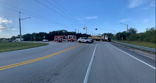 A crash between a semi-truck and a garbage truck on Friday January 10, 2020, left part of Kanner Highway closed.