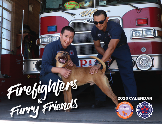 The Firefighters and Furry Friends calendar raises funds and awareness for pet adoptions.