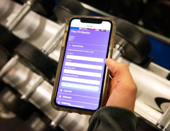 The Flex Fit program can be tracked using an app from the YMCA.