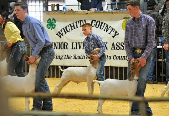 Local and area students participated in this year's annual Wichita County jr. Livestock Show Friday afternoon.