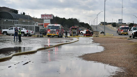 Berend Turf & Tractor on Seymour Highway suffered heavy damage to a building Friday morning during a three-alarm fire which affected a large storage facility on the property.