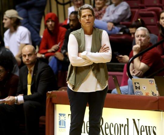 Midwestern State head basketball coach Noel Johnson in the game against St. Edward's Thursday, Jan. 9, 2020, at D.L. Ligon Coliseum.